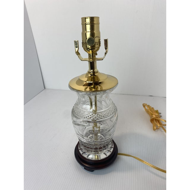 1960s Vintage 1960s Cut Crystal Table Lamp For Sale - Image 5 of 6