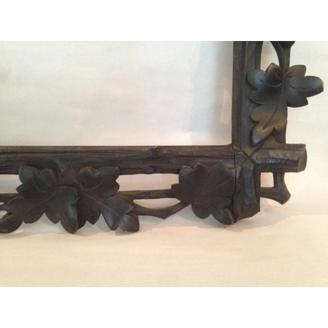 Antique Carved Black Forest Frame - Image 8 of 9