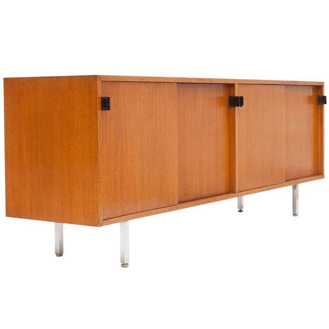 Modern Credenza in Teak by Florence Knoll, Manufactured by De Coene, 1950s For Sale - Image 11 of 11