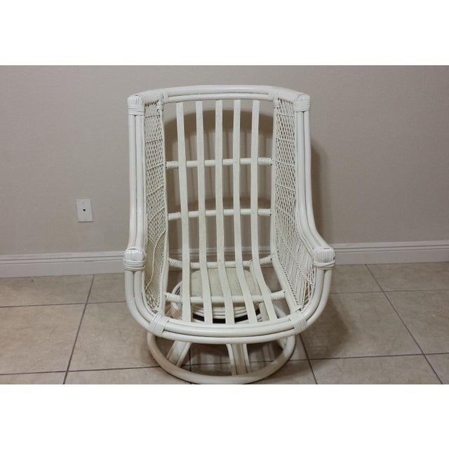 Vintage Swivel Egg Rattan Chair For Sale - Image 9 of 9