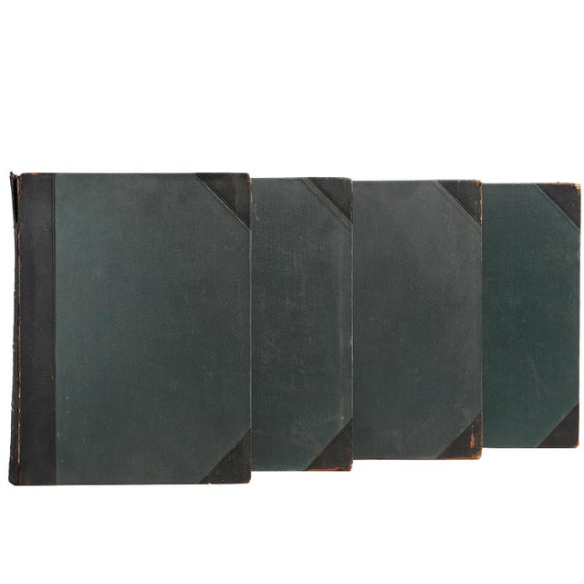 Distressed Black Leather Dictionaries - Set of 9 - Image 2 of 2