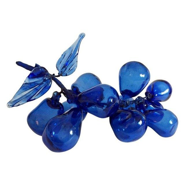 Cobalt Blue Glass Grape Cluster - Image 1 of 5