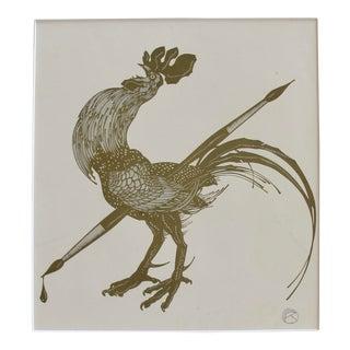 Rare Art Deco Original Poster, Julius Klinger Golden Rooster