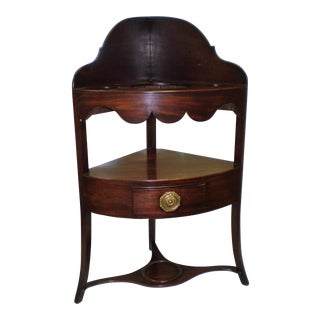 Antique 19th Century Mahogany Corner Wash Stand