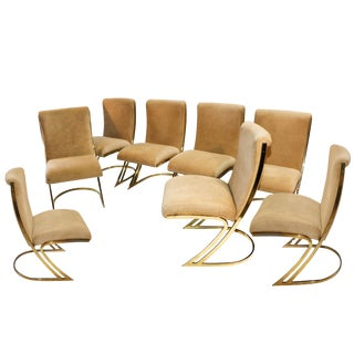 1970s Vintage Pierre Cardin Cantilever Z Chairs - Set of 8 For Sale