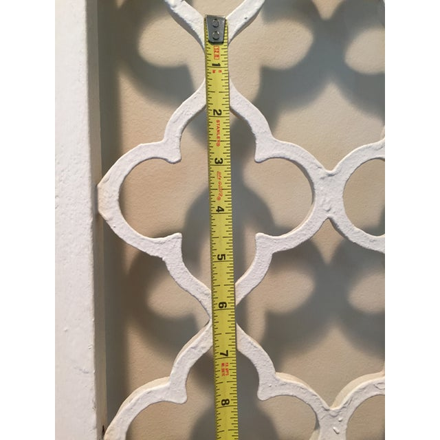 Mid-Century Metal Wall Divider Screens - A Pair For Sale - Image 4 of 5