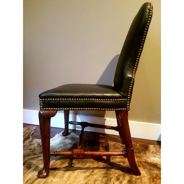 George II Circa 1740 Side Chair in Glove Leather For Sale - Image 4 of 5
