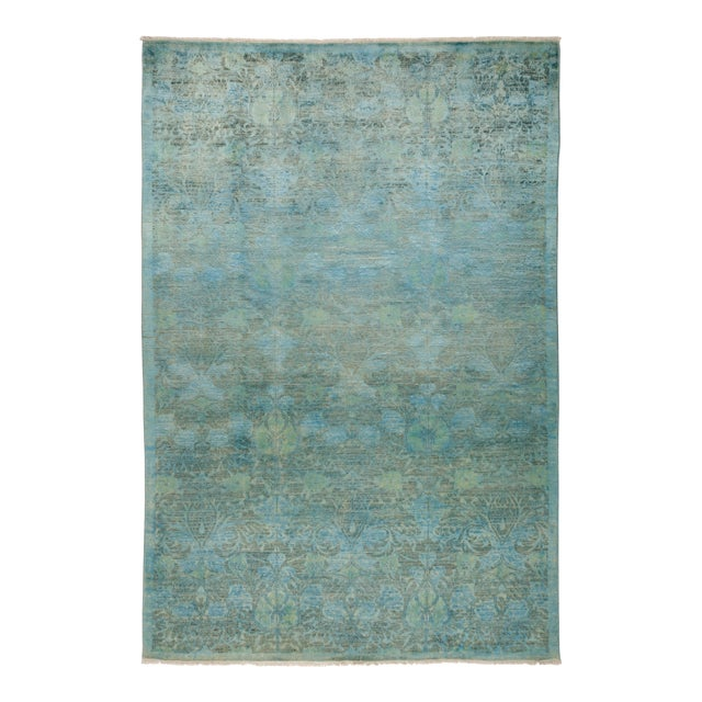 """Vibrance Hand Knotted Area Rug - 6' 1"""" X 9' 0"""" - Image 1 of 4"""