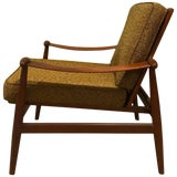Image of 1960s Teak Upholstered Spade Lounge Chair by Finn Juhl for France & Daverkosen For Sale