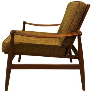 1960s Teak Upholstered Spade Lounge Chair by Finn Juhl for France & Daverkosen
