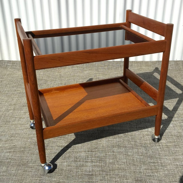 Mid-Century Modern Bar Cart - Image 2 of 4