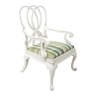 Italian Painted Upholstered Armchair For Sale