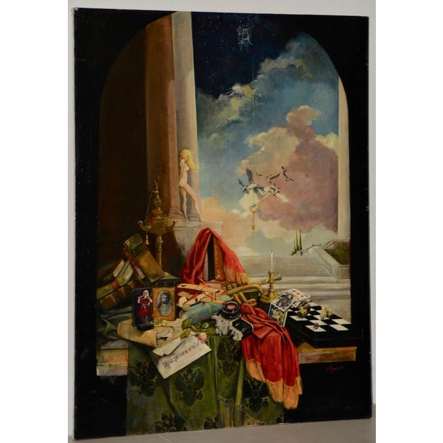 Late 20th Century Surreal Still Life Landscape by Ayers C.1995 For Sale - Image 13 of 13