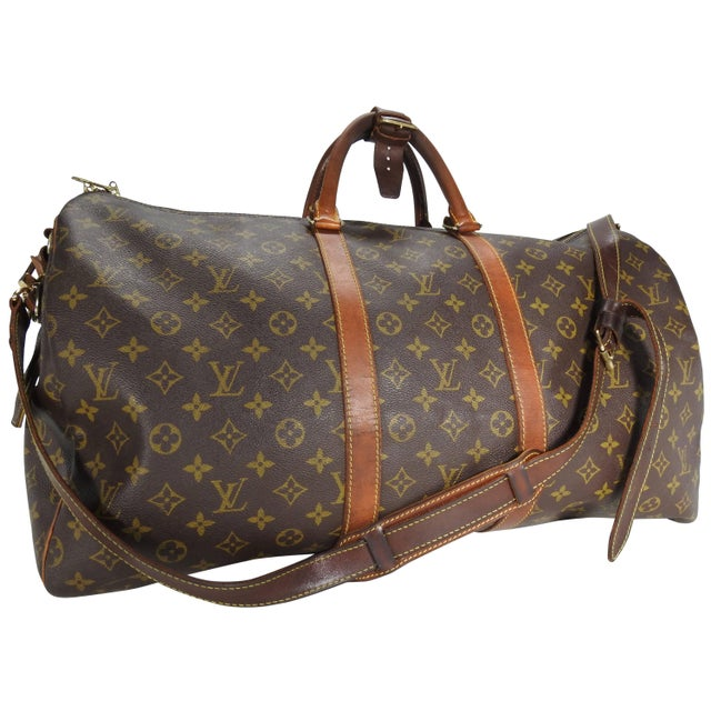 29504278e Louis Vuitton Classic Keepall Leather Monogram Travel Bag For Sale - Image  11 of 11
