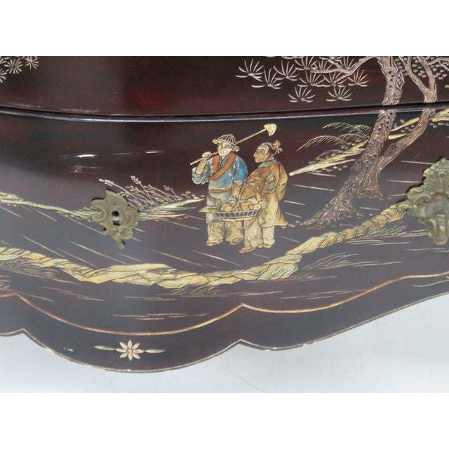 French Chinoiserie Marble Top Commode - Image 4 of 7