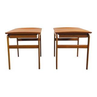 1950s Scandinavian Modern Peter Hvidt & Orla Mølgaard-Nielsen Side Tables - a Pair For Sale