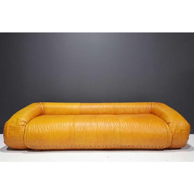 Leather Anfibio Sofa Bed by Alessandro Becchi for Giovannetti Collezioni, 1970s For Sale In Dallas - Image 6 of 13