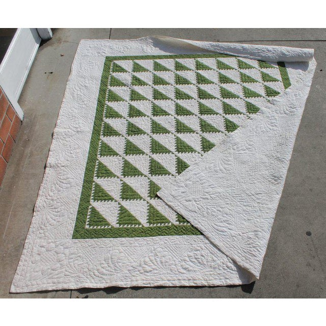Country Antique Quilt 19th Century Delectable Mountains Quilt For Sale - Image 3 of 9