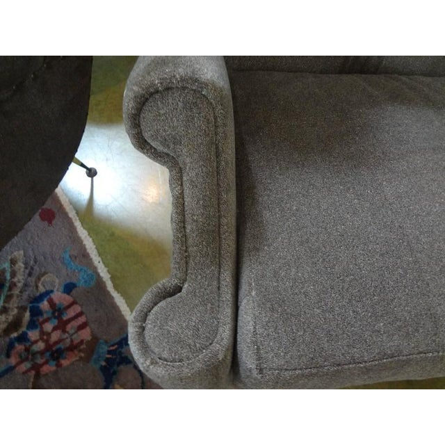Fabric Circa 1960 Mid-Century Italian Gio Ponti Inspired Lounge Chairs - A Pair For Sale - Image 7 of 9