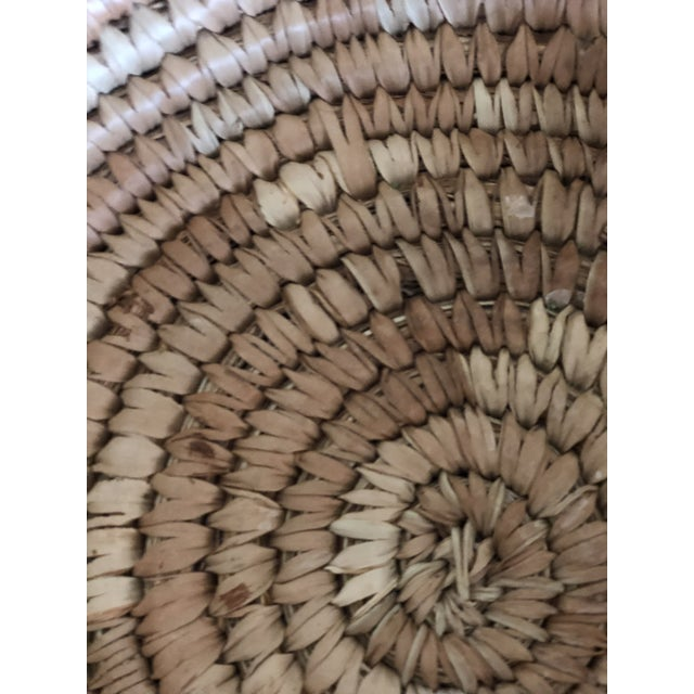 African Handwoven Green Grass Basket For Sale - Image 3 of 5