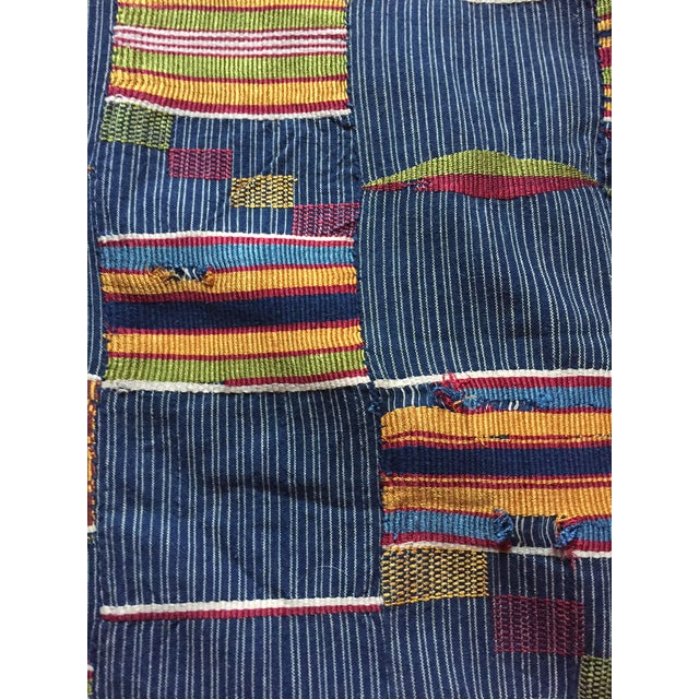Vintage African Textile Kente Cloth Cotton Fabric / Blanket - Image 9 of 10