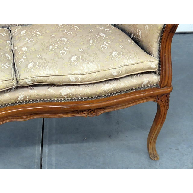 Antique Louis XV Style Settee For Sale - Image 4 of 10
