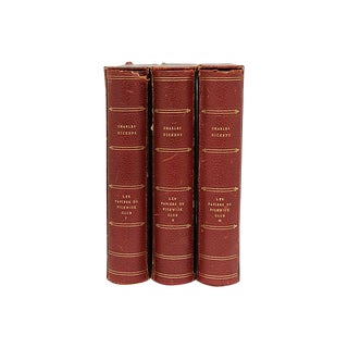 3-Vol French Charles Dickens Collection For Sale