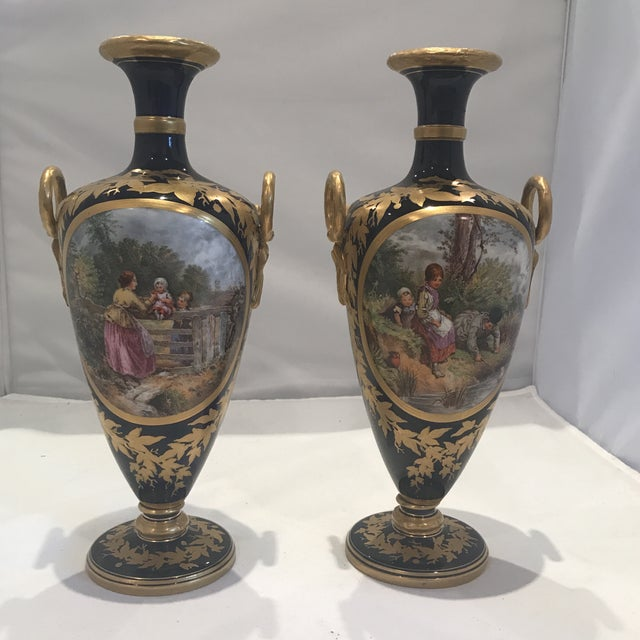 19th Century Royal Worcester Vases - a Pair For Sale - Image 13 of 13