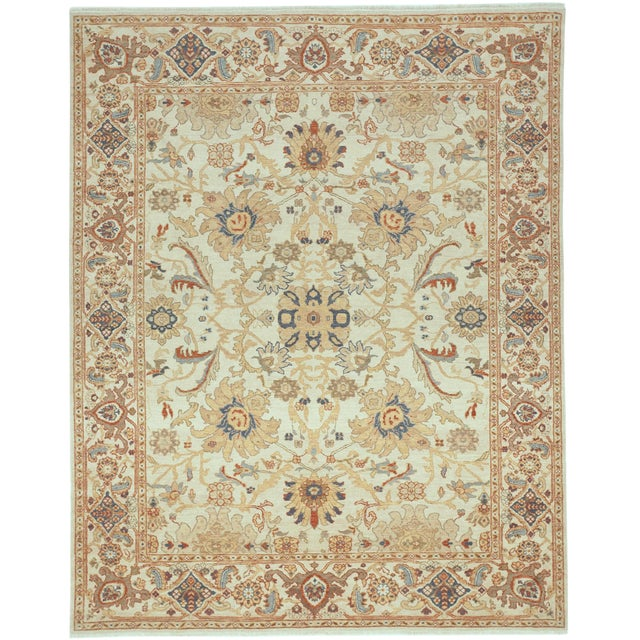"""Chinese Ziegler Hand Knotted Rug - 8'2""""x 10'4"""" For Sale"""