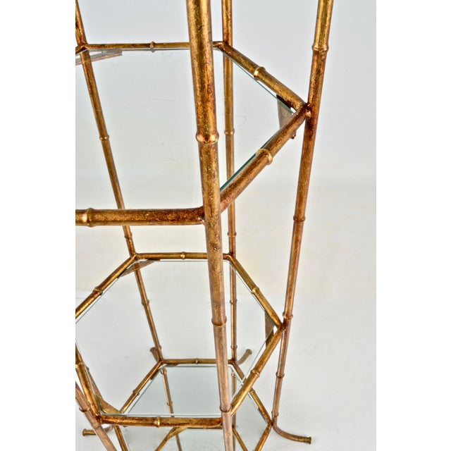 Gold Pagoda Form Etagere, Parcel Gilded For Sale - Image 8 of 10