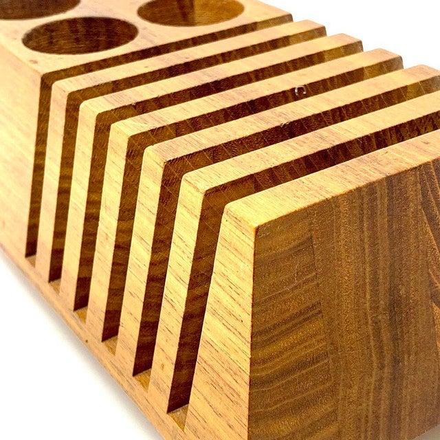 Mid-Century Modern Geometric Wooden Desk Organizer For Sale - Image 12 of 13