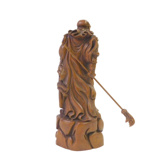 Chinese Wood Carved General Guan Statue - Image 4 of 6