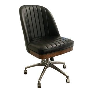 Mid Century Style Chestnut Burl Desk Chair For Sale