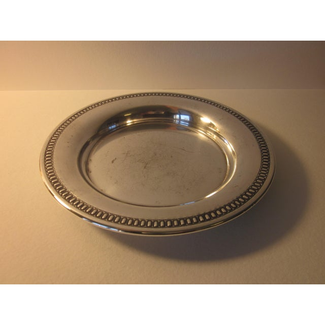 Metal 20th Century Traditional Silverplate Salver For Sale - Image 7 of 7