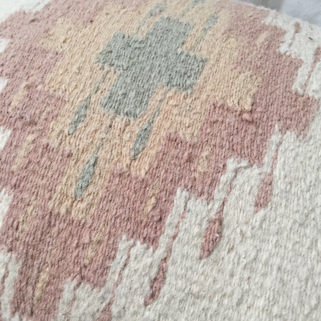 Southwestern Rug Wool & Canvas Pillow - Image 5 of 6