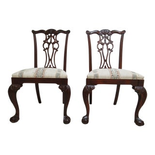 Ethan Allen 18th Century Mahogany Dining Chairs - A Pair