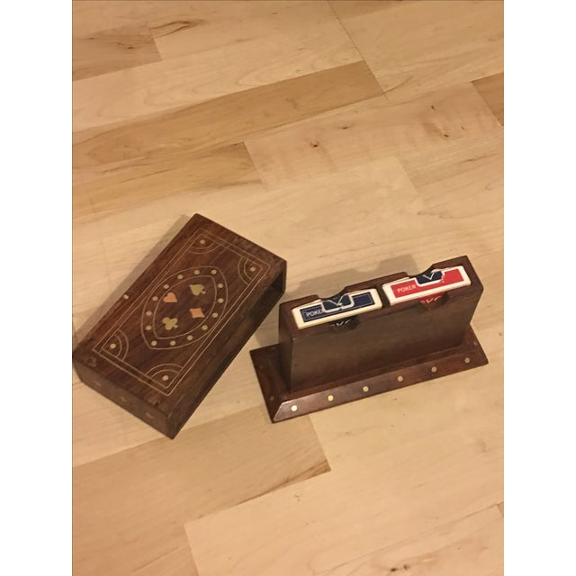 Walnut Card Box With Brass & Copper Inlay - Image 7 of 9