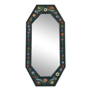 Hand Crafted Painted Iron Mirror