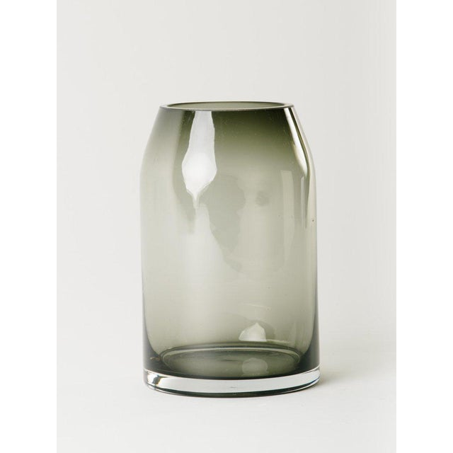 1970s Pair of Danish Modern Smoked Glass Sommerso Vases For Sale - Image 5 of 10