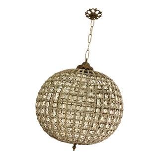 1960s European Beaded Chandelier Ball / Globe Shape For Sale