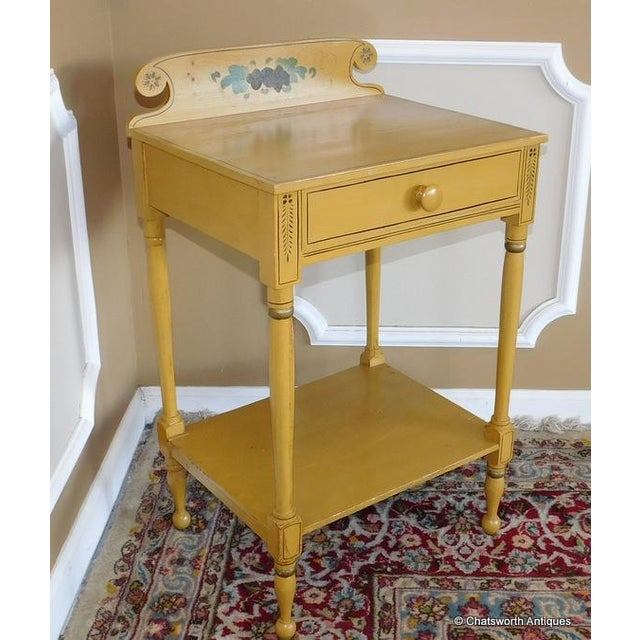 Sheraton 19 C. Painted Country Washstand Table For Sale In New York - Image 6 of 9