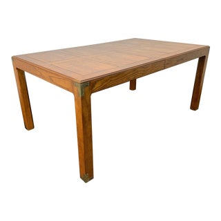 Henredon Artefacts Campaign Style Dining Table For Sale