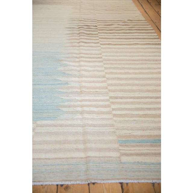 "2010s New Afghani Kilim Carpet - 8'1"" X 10' For Sale - Image 5 of 13"