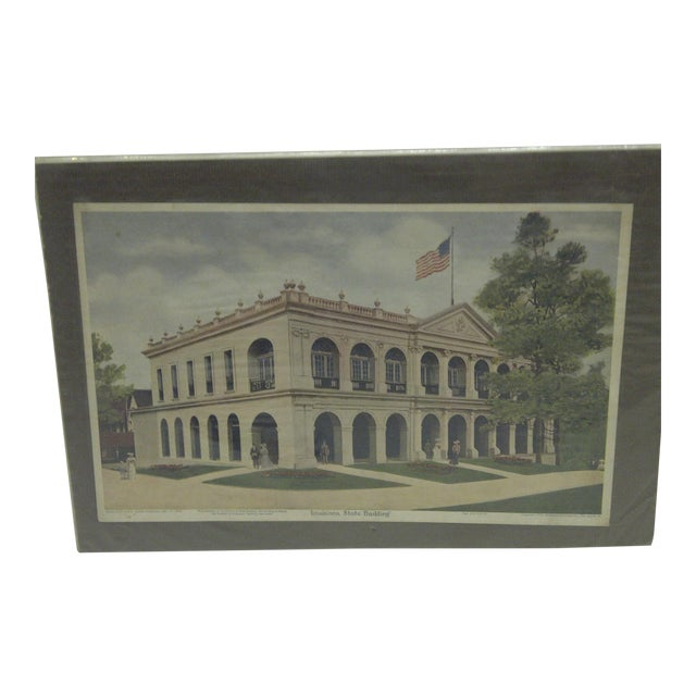 """Vintage """"Louisiana State Building"""" Print - Image 1 of 7"""