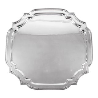 Large Sterling Salver For Sale