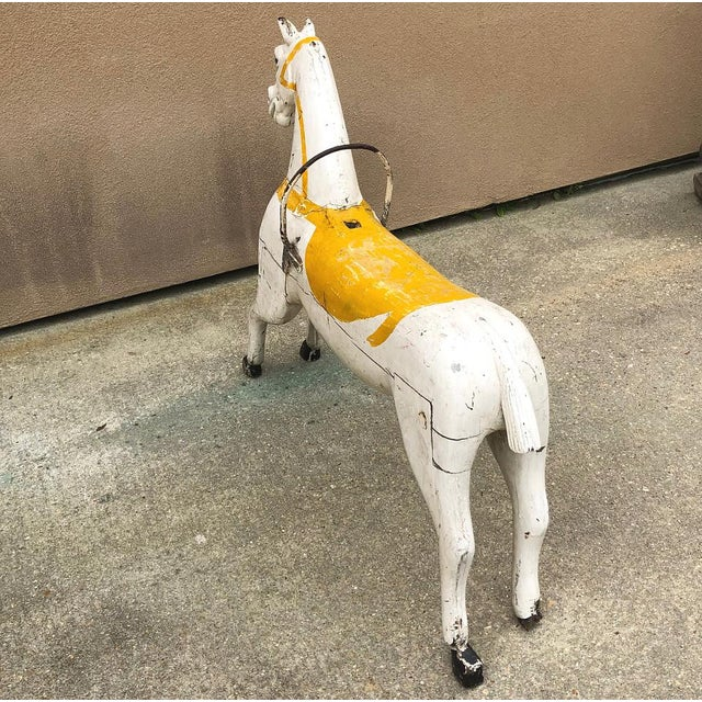 Hand-Painted Carved Wood Carousel Horse For Sale - Image 9 of 11