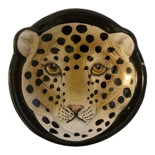 Vintage Italian Pottery Cheetah Dish For Sale