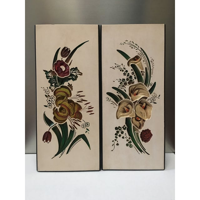 Mid Century Chalkware Botanic Plaques - a Pair For Sale - Image 12 of 12