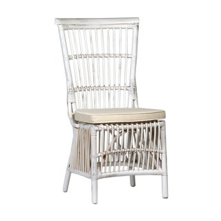 White Wash Rattan Dining Chair