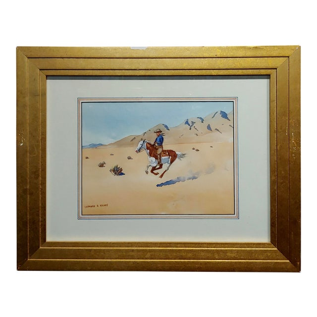 "Leonard Reedy ""Cowboy Desert Rider"" Painting For Sale"